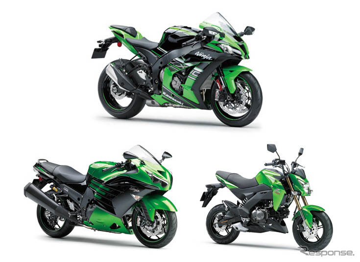 东京车展日系摩托车:川崎Ninja ZX-10R ABS 等