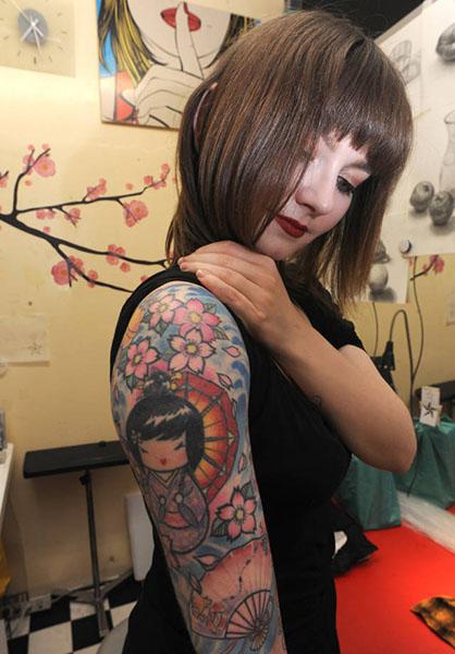 欧美纹身后背素材